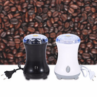 Wholesale electric kitchen gadgets resale online - Plastic Shell Electric Coffee Spice Grinder Maker With Stainless Steel Blades Beans Nuts Mill Kitchen Gadget Coffee Grinder V EU