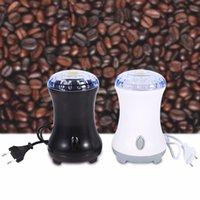 edelstahlschale groihandel-Plastic Shell elektrische Kaffeegewürzmühle-Hersteller mit Klingen aus rostfreiem Stahl Bohnen Nüsse Mühle Küche Gadget Kaffeemühle 220V EU