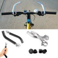 blaue lenker groihandel-Mountainbike-Schutzbügel Fahrrad Lenker Resting Hände mit Schutzstopfen, rot und blau Aluminiumlegierung 7 5QT C1