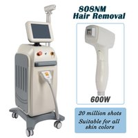 Wholesale hair home machine for sale - 808nm laser diode soprano laser hair removal machine ice permanent hair removal machines home use W optput power
