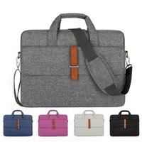 Wholesale white briefcases resale online - Fashion Business Briefcase Men Portable Computer Handbag Document Briefcase Bag Laptop Messenger Shoulder Bag Waterproof Breatha