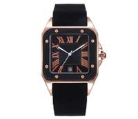 büyük kadran kare saatler toptan satış-Relogio masculino 44mm askeri Vida spor Kare büyük erkekler saatler 2019 lüks moda tasarımcısı siyah dial benzersiz silikon büyük erkek saat