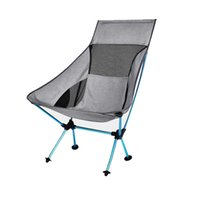 Wholesale chair lights for sale - Group buy Portable Gray Moon Chair Fishing Camping Chairs Folding Extended Hiking Seat Light Outdoor Chair Home Furniture