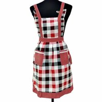 фартуки платья оптовых-Women Lady Aprons Kitchen Cooking Restaurant Home For Pocket Cooking Cotton Apron Bib Sanitary Apron Dress new #4n28