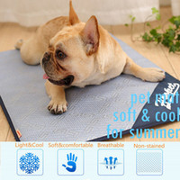 Wholesale pet cooling mats for sale - Group buy Self Cooling Gel Pet Mat For Floor Bed Crate Cool Dog Cushion Pad Indoor Outdoor