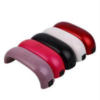 ingrosso chiodi qq-USB Mini Nail Dryer 9W 3 Led UV Nail Dryer QQ Gum Automatic Timing Nail Lampada multi colori