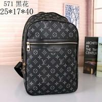Wholesale mens outdoor shoulder bags resale online - Designer Backpack Brand Shoulder Bag Fashion Men and Women School Bags Mens Outdoor Sport Bag Student Backpack Travelling Package