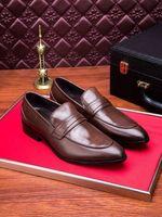 ingrosso uomini di trincea marrone-203525 Fashion New Color Glossy Brown Men Dress Mocassini Mocassini Stivali con lacci Stivali Driver Sneakers Scarpe