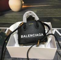 bolsas de hombro diagonales al por mayor-Bolso de diseñador de alta calidad marca de lujo Shell bandolera bolso diagonal hembra bolso clásico cuero de vaca real con caja 18x15x8cm modelo: 8p