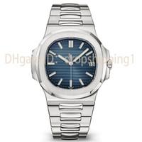 ingrosso orologio di lusso blu-2019 Top Nautilus Watch Uomo Automatico Luxury Watch 5711 Silver Strap Blue Stainless Uomo meccanico Orologio di Lusso da polso Date Chrono