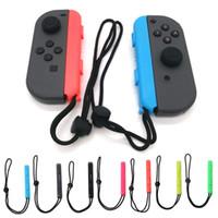 mão da alegria venda por atacado-Um par de alça de pulso para Nintendo Switch Joy-Con portátil Joy-Con Carrying Hand Wrist Strap