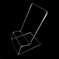 Wholesale cell phone display racks resale online - Transparent Acrylic Cell Phone Display Stand Clear Mobile Phone Show Rack Universal Mount Holder Kickstand for iPhone and Samsung Galaxy