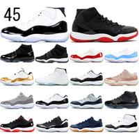 calcetines de baloncesto al por mayor-Nike AIR Jordan 11 con socksAir libreJordánRetro 2020 criado 11 zapatillas de baloncesto Concord 45 11s gorra y vestido ideal tamaño de los deportes zapatillas de deporte 36-47