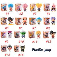 une pièce de dragon ball pvc achat en gros de-FUNKO POP Dragon Ball Z Fils Goku Vegeta Piccolo Cellule PVC Action Figure Collection Modèle détail figurines action poupée surprise pour enfants jouets