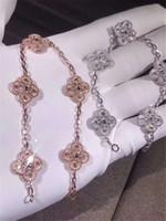 silberfarbene armbänder großhandel-Top Qualität Luxus Designer Schmuck Frauen Armbänder Edelstahl Armreif Pflastern Silber Rose Gold Tone Charms Lock Bangle Schmuck