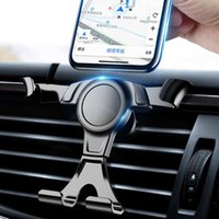 Wholesale car phone holder for sale – best Gravity Car Mount Cell Phone Holder In Car Air Vent Clip Stand No Magnetic Mobile Phone Holder Cell Stands Supports Brackets For Smartphones