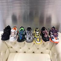 suela gruesa calzado deportivo al por mayor-Paris plataforma Vendaje Hombre Zapatilla de deporte Zapatos casuales de cuero Diseñador de lujo Zapatos de suela gruesa Mujer de base pesada Zapatos deportivos para caminar Talla 35-45