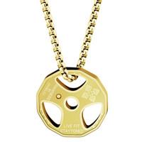 crossfit jóias venda por atacado-Aço inoxidável Colar De Fitness Fresco Placa De Peso Halterofilismo Barbell Halterofilismo Halterofilismo Crossfit Sports Jóias