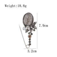 Wholesale large flower corsage brooch for sale - Group buy New Vintage Big Resin Flower Pin Brooches for Women Elegant Scarf Buckle Coat Corsage Large Fashion Accessories Gift