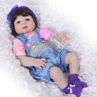 Wholesale alive dolls for sale - Group buy New Arrival Baby Full Silicone Body Reborn Baby Girl Reborn Dolls Kids Toy Vinyl cm Real Life Baby Reborn Alive Doll
