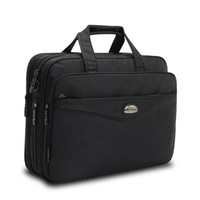 ingrosso cinghie da cartella-15.6 Borse per laptop Crossbody Briefcase Business Bag da uomo Bolsas Homme Large Capacity Oxford Briefcases per uomini con tracolle lunghe B76 # 673087