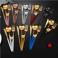 Portugal Western tableware stainless steel Cutlery Set knife fork spoon tea spoon flatware sets Western Dinner Cutleries Gift