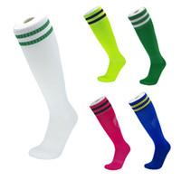 volleyball-kniestrümpfe groihandel-High Knie Fußball Socken Für Erwachsene Kinder Handtuch Bottom Kniehohe Langstrumpf High-End Fußball Socken Laufen Im Freien Reiten Klettern M116Y