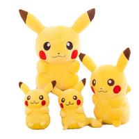 bebek pikachu oyuncakları toptan satış-Pikachu Peluş Gitmek Peluş Oyuncak Sevimli Pikachu Yumuşak Oyuncak Çocuklar Bebek Oyuncakları Bebek Için En Iyi Hediye Çoc ...
