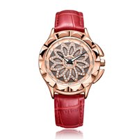 счастливые часы оптовых-Новые женские часы роскошные полые роторный Алмазный дизайн женские часы водостойкий благородный и элегантный повезло леди кварцевые часы