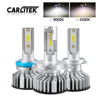 ingrosso luce di mini dimensioni ha condotto-2PCS Lampadine per faro automatico Mini Size H7 LED H4 HB3 H11 H1 9005 Luce per auto H3 4300K 6000K 50W 10000LM Automobiles Headlamp Bulb