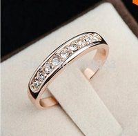 Wholesale plate stamps resale online - Nlm99 S925 stamp Sterling Silver anillos mujer bague aros Rhinestones Studded Finger Rings Clear CZ diamond Engagement wedding Ring women
