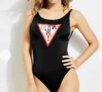 ingrosso un costume da bagno bikini in spalla-Costumi da bagno estivi firmati da donna firmati da donna indossano un bikini Leopard 2019 monospalla di alta qualità con spedizione veloce
