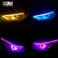 Wholesale led strip lighting for motorcycles resale online - JURUS Flexible LED Strip DRL Daytime Running Light Motorcycle Sequential Flowing Headlight For Auto Turn Signal Light Led
