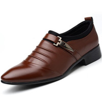 мужская одежда оптовых-men  formal shoes italy wedding leather shoes mens pointed toe dress designer Flats oxford sapato masculino