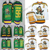 Wholesale anaheim mighty ducks jersey selanne for sale - Group buy Anaheim Ducks Mighty Ducks Movie CCM Vintage jerseys Adam Banks Charlie Conway Paul Kariya Teemu Selanne Hockey Jersey
