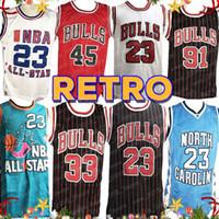 jerseys altos al por mayor-NCAA 23 Michael Dennis Rodman 91 Scottie Pippen 33 Carolina del Norte Universidad del Estado de LeBron James 23 Escuela Secundaria Jersey 23 Jarrett Culver