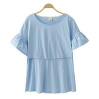 Wholesale nursing breastfeeding clothing for sale - Group buy Breast Feeding Nursing Tops Maternity Clothes Pregnancy Clothing Maternity T shirt Breastfeeding Tees Clothes For Pregnant Women Y190525