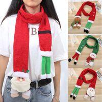 ingrosso sciarpa rossa del collo-Bambini Babbo Natale Sciarpa Snowman Moose Rosso Verde sciarpa calda della ragazza del ragazzo del fumetto delle ragazze di natale a muffola Bandana
