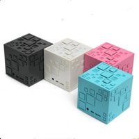 Wholesale mini bass cube for sale - Group buy Rubik s Cube Bluetooth Speaker Upgrade New Q Bass Portable Card Mini Speaker with FM TF Card Slot