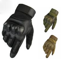 жесткие перчатки оптовых-Сенсорный экран Тактические перчатки Армейские походы на открытом воздухе альпинизм Пейнтбол Стрельба Airsoft Combat Hard Knuckle Full Finger Gloves