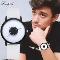 relógios unisex de quartzo preto venda por atacado-Moda casual Unisex Mulheres Negras homens Relógios de Alta Qualidade Ultra fino Relógio de Quartzo Mulher Elegante Vestido Ladies Watch Montre Femme
