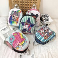 Wholesale shcool bags resale online - Kids Fashion LOL Sequin Bags Shcool Students Backpack Colors Colorful Handbag DHL Fast Arrived