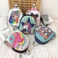 mochilas de niños de colores al por mayor-Moda para niños de lentejuelas LOL Bolsas Shcool Estudiantes Mochila 5 colores colorido bolso de DHL envío libre llegado rápido