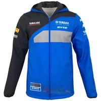 fermuar motosiklet ceketi toptan satış-Yamaha motokros Tişörtü için yeni varış Açık spor Softshell Ceket motosiklet yarış ceketler fermuar Ile sıcak Tutmak J