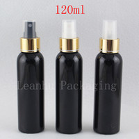 Wholesale colored perfume spray bottles for sale - Group buy 120ml X Empty Black Perfume Bottle with Gold Spray Pump Refillable Perfumes Bottles oz Colored Sprayer Container Mist Spray