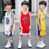 Wholesale jerseys for basketball for sale - Group buy Retail basketball practice jersey short combos for boys girls piece basketball performance top and shorts set birthday gift for little kid