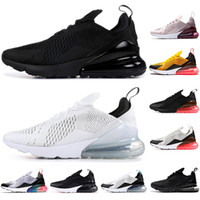 ingrosso scarpe mens blu-nike air max 270 Top qualità Hot Punch foto Blue Mens donna scarpe da corsa Triple Black White University Red Olive Volt Habanero Flair Sneakers 36-45