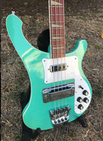 bajo cuerda verde al por mayor-RIC personalizado 4 cuerdas 4003 bajo Sea Green Mono Salida estéreo ric 4003 China Guitarra eléctrica bajo