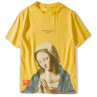 Wholesale mens funny shirts for sale - Group buy Madonna In Prayer Tshirts Funny Virgin Mary Mens Hip Hop Casual Cotton Short Sleeve T Shirts Male Streetwear Tees