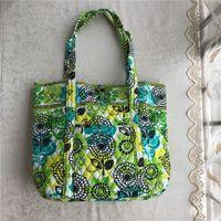 damen blumenmuster handtaschen großhandel-Eur Pastoral Style Floral Frauen Handtaschen Marke VB Umhängetaschen Vintage Blumen Muster Damen Seesack Fashion Weekenders Totes C72904